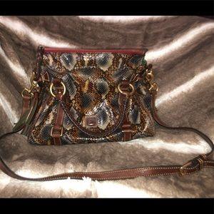 Dooney and Burke python skin purse